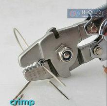 Mangas casquillo Que Prensa Herramienta Clamp Tool + Cable de Acero Corte de Trabajo De 0.5 MM-2.2 MM Tamaño de Acero Cuerda de alambre Y Mangas Casquillo
