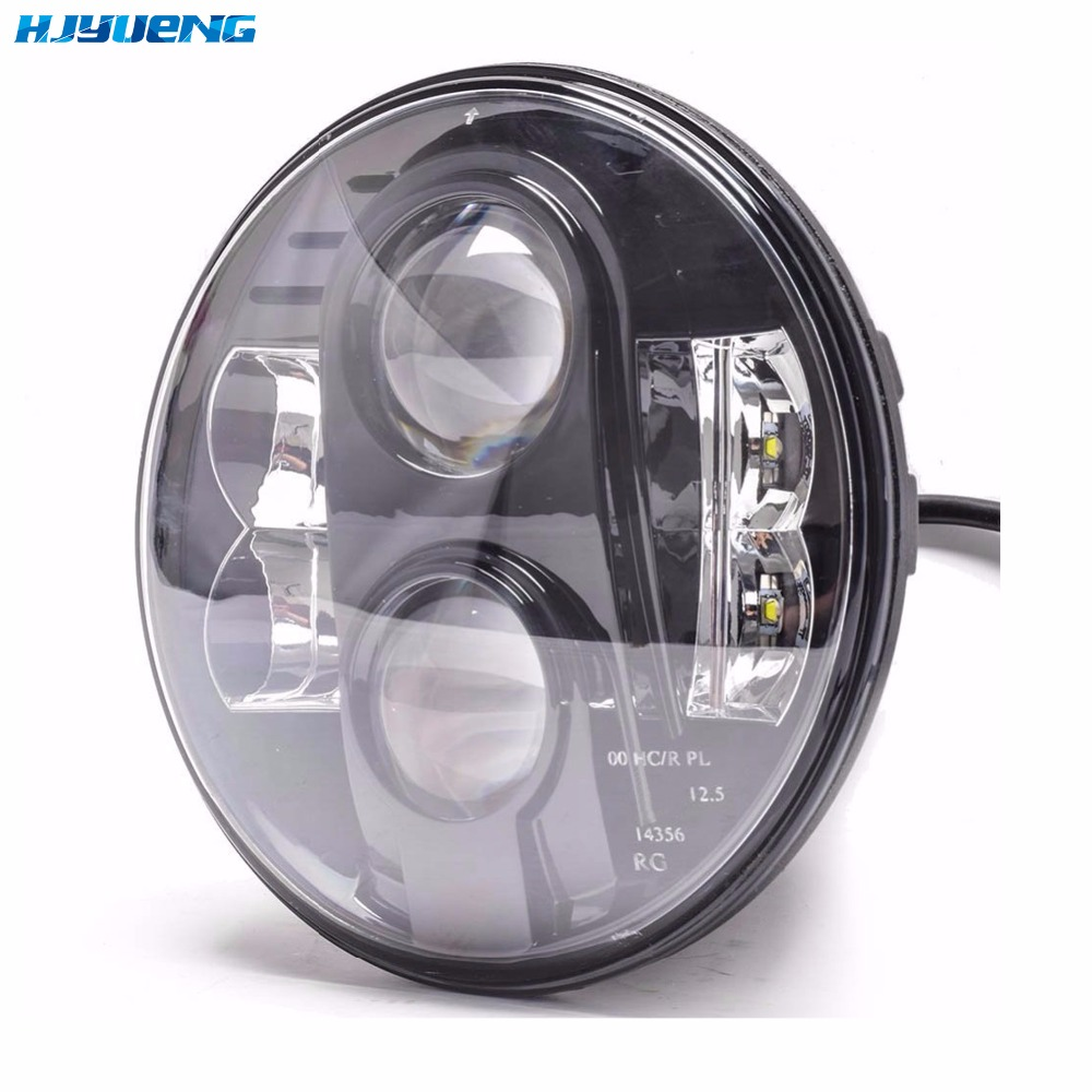 80W LED Projector Headlight DOT Motorcycle 7Inch Round LED Headlights DRL 7 DRL LED Daymaker Headlight for Harley Davidson
