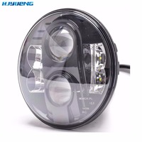 80W LED Projector Headlight DOT Motorcycle 7Inch Round LED Headlights DRL 7 DRL LED Daymaker Headlight