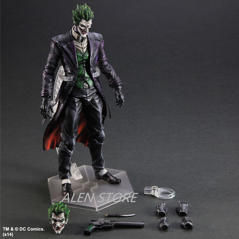 ALEN Anime Doll Play Arts KAI Batman Arkham Origins NO.4 The Joker Joint Moveable PVC Action Figure Collectible Model Toy 27cmALEN Anime Doll Play Arts KAI Batman Arkham Origins NO.4 The Joker Joint Moveable PVC Action Figure Collectible Model Toy 27cm