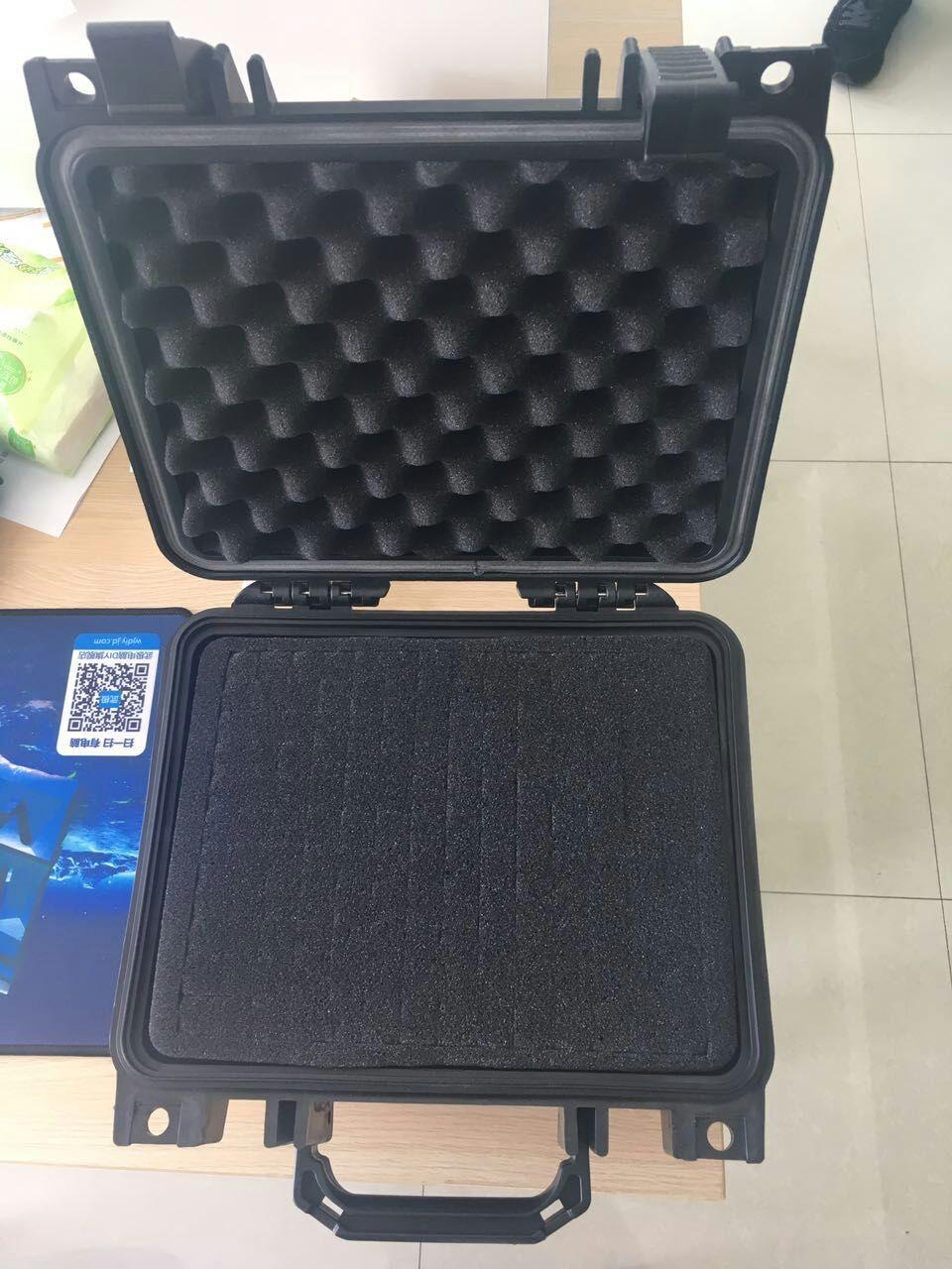 ФОТО Internal 233*178*155mm crushproof strong suitcase with standard precut foam