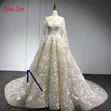 Taoo Zor Luxury Appliques A-Line Princess Voile Wedding Dresses 2017 Embroidery Lace Bridal Gowns Open Back Vestidos De Novias