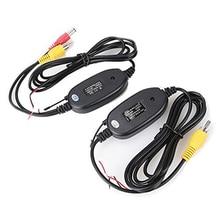 De Visión trasera Cámara de 2.4 Ghz Inalámbrico para Coche Kit RCA Transmisor Receptor Video de Coches Reproductor de DVD Monitor de Vídeo Transmisor Del Coche pantalla