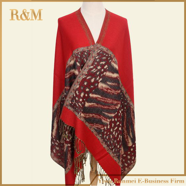 Women Lady Soft Pashmina Beach Shawl Wrap Stole Scarves Scarf Exotic Leopard Print Free Shipping