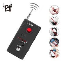 ET Full Range Anti   Spy Bug Detector CC308 + Mini Macchina Fotografica Senza Fili Nascosta Segnale GSM WiFi Bug Detector Sonda monitor Anti SPY
