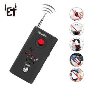 Image 1 - ET pełnozakresowy wykrywacz błędów szpiegowskich CC308 + Mini kamera bezprzewodowa ukryty sygnał GSM WiFi wykrywacz błędów sonda Monitor anty szpieg
