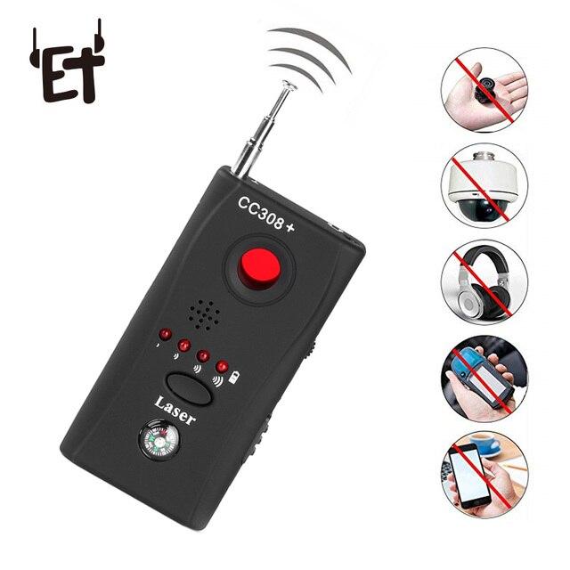 ET pełnozakresowy wykrywacz błędów szpiegowskich CC308 + Mini kamera bezprzewodowa ukryty sygnał GSM WiFi wykrywacz błędów sonda Monitor anty szpieg