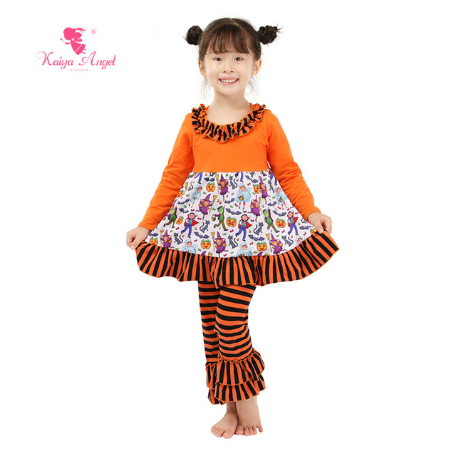 2018 New Halloween Designer Baby Clothes Wholesal Fall Outfit Toddler Kids  Birthday Clothing Infant Girl Summer Pajamas Set a3f34621f30a