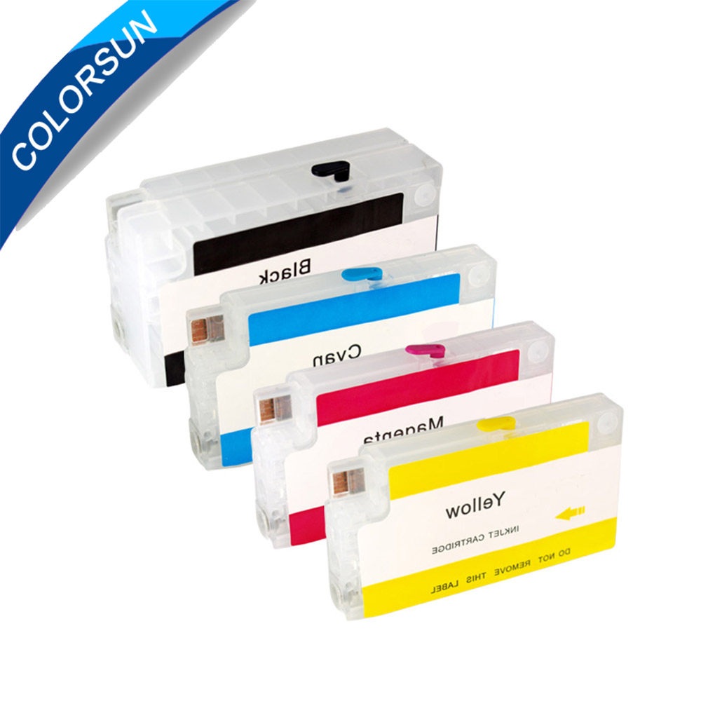For HP954 For HP 954 Refillable Ink Cartridge For HP OfficeJet Pro 7740 8210 8710 8720 8730 Printer with ARC chips 12 colors for hp70 hp 70 refillable ink cartridge for hp deskjet z3100 printer cartridge with permanent arc chips