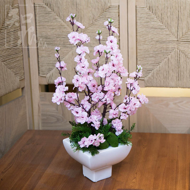High simulation took home accessories living room ornaments suit cherry  blossom table decoration artificial flowers floral. High simulation took home accessories living room ornaments suit
