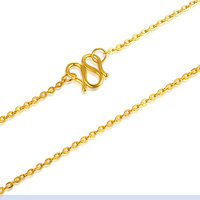 Pure 24K Yellow Gold Necklace Chain Women 999 Gold O Link Chain Necklace 8g