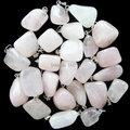 ( min. orden 10 de la mezcla ) hermosas venta al por mayor 10 unids cuarzo rosa caída colgante de perla yt10