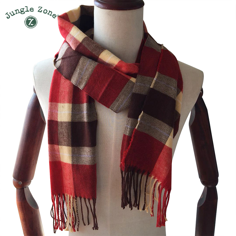 Winter Scarf 2018 Cashmere Scarf Plaid Blanket Scarf New Designer men wool plaid bandana Scarves and Wraps WJ12