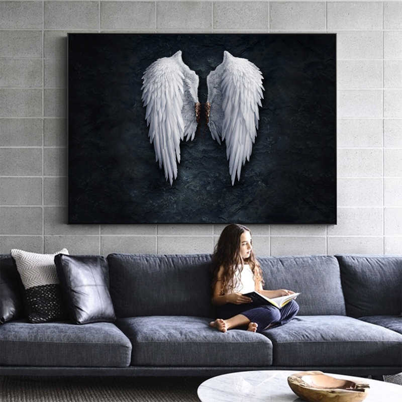 5D Diy Diamond Painting Anime Angel Wing Diamond Embroidery Full square Round Drill Painting by number RhinestonesZP-1378