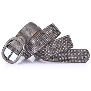 Image 5 - New arrival rivet belts high quality designer women belts brand waist belt for women casual pin buckle female belts Strap