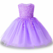 2017 Kids Tutu Birthday Princess Party Dress for Girls Infant Lace Children Bridesmaid Elegant Dress for Girl baby Girls Clothes