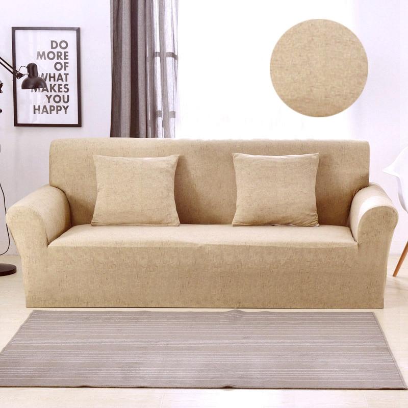 Moderne Wohnzimmer Dekor Einfarbig Sofa Abdeckung Spandex Polyester Stretch Geometrische Couch Abdeckung Elastische All-inclusive-Schutzhülle