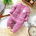 Ropa infantil del bebé recién nacido ropa 100% de algodón de manga larga linda del niño del mono del bebé del mameluco