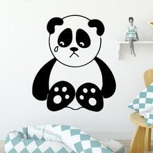 Cartoon panda Environmental Protection Vinyl Stickers For Kids Room Living Home Decor Bedroom Nursery Decoration