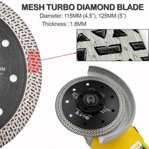 Image 5 - SHDIATOOL 2 pcs Elmas Sıcak preslenmiş Sinterlenmiş Kesme Diski Kiremit Örgü Turbo Bıçak Mermer Kesme Tekerlek Çok Malzemeler Testere bıçak