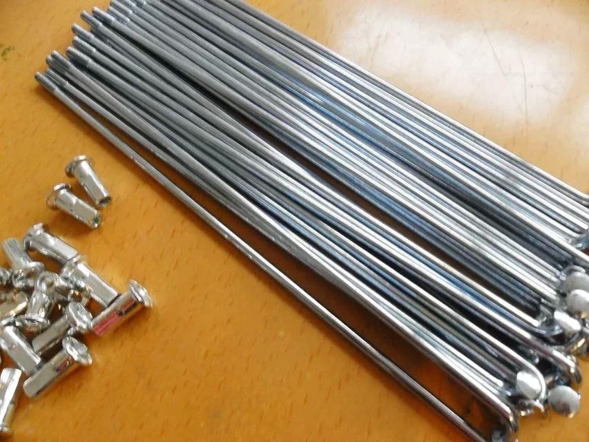 100pcs lot Electric bicycle spokes Steel nipples Bicycle Accessories Bicycle Spoke Silver 10K 10G Diameter 3mm