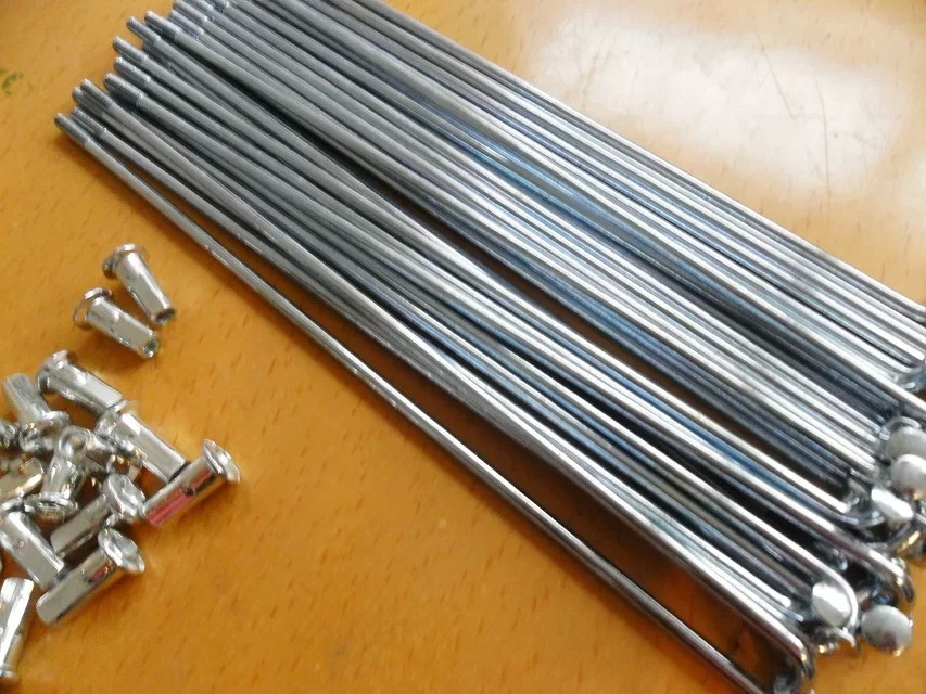 100pcs/lot Electric bicycle spokes Steel + nipples Bicycle Accessories/Bicycle Spoke Silver 10K 10G Diameter 3mm