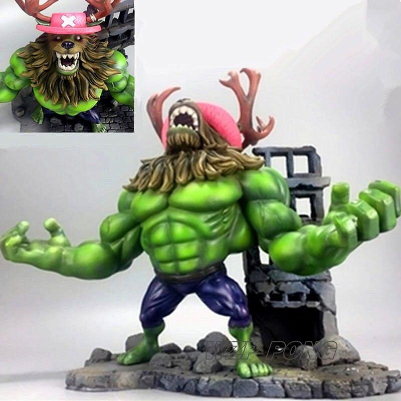 32 cm One Piece Anime Tony Tony Chopper Cosplay Hulk Figure Statue Nouvelle Résine Collection Action Figure Modèle Jouets D'anniversaire cadeau