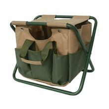 Camping Folding Stool Storage Bag Organizer Garden Tools Folding Chair Fishing Stool Multi-functional Portable Quick Delivery 2016 new multi functional bamboo folding stool portable home solid wood mazza outdoor fishing folding stool