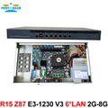 R15 Мощный 1U pfsense firewall VPN Quad Core Xeon E3-1230 V3 3.7 ГГц с 6 Порта 6*1000 М 82574L Гигабитные сетевые контроллеры 2 ГБ RAM 8 ГБ SSD