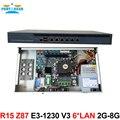 R15 Poderoso pfsense 1U firewall VPN Quad Core Xeon E3-1230 V3 3.7 Ghz com 6 Portas 6*1000 M 82574L Gigabit Nics 2 GB de RAM 8 GB SSD