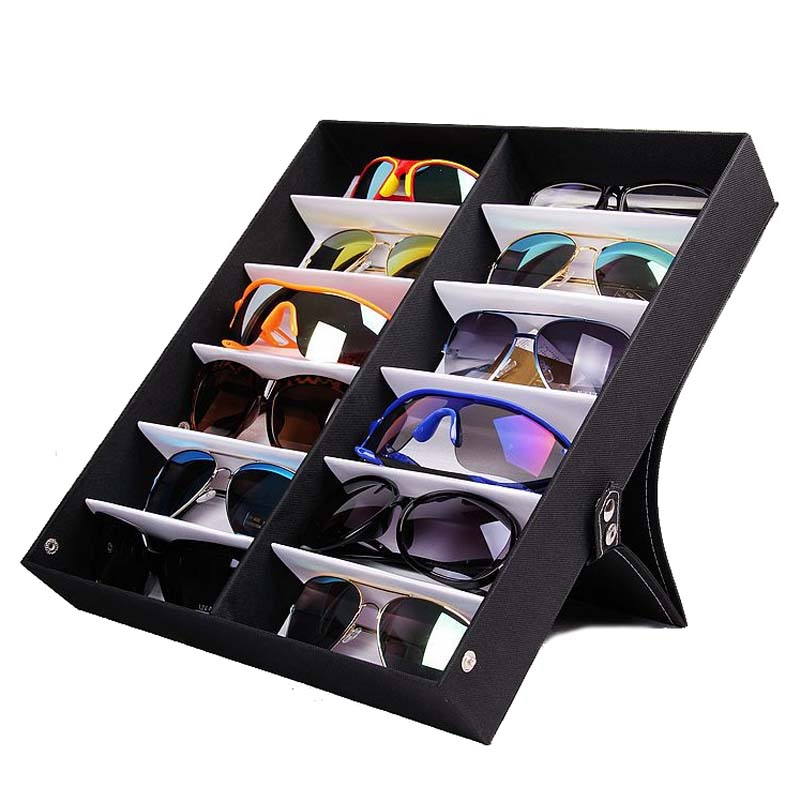 50eda845a Mordoa 12Pcs Glasses Storage Display Case Box Eyeglass Sunglasses Optical  Display Organizer Frames Tray 3d Glasses Display Rack-in Jewelry Packaging  ...