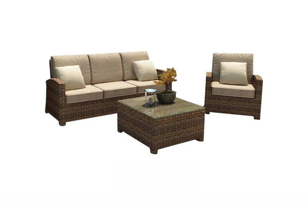 2017 Resin Wicker Patio Furniture Indoor Outdoor Cushion Sofa Set
