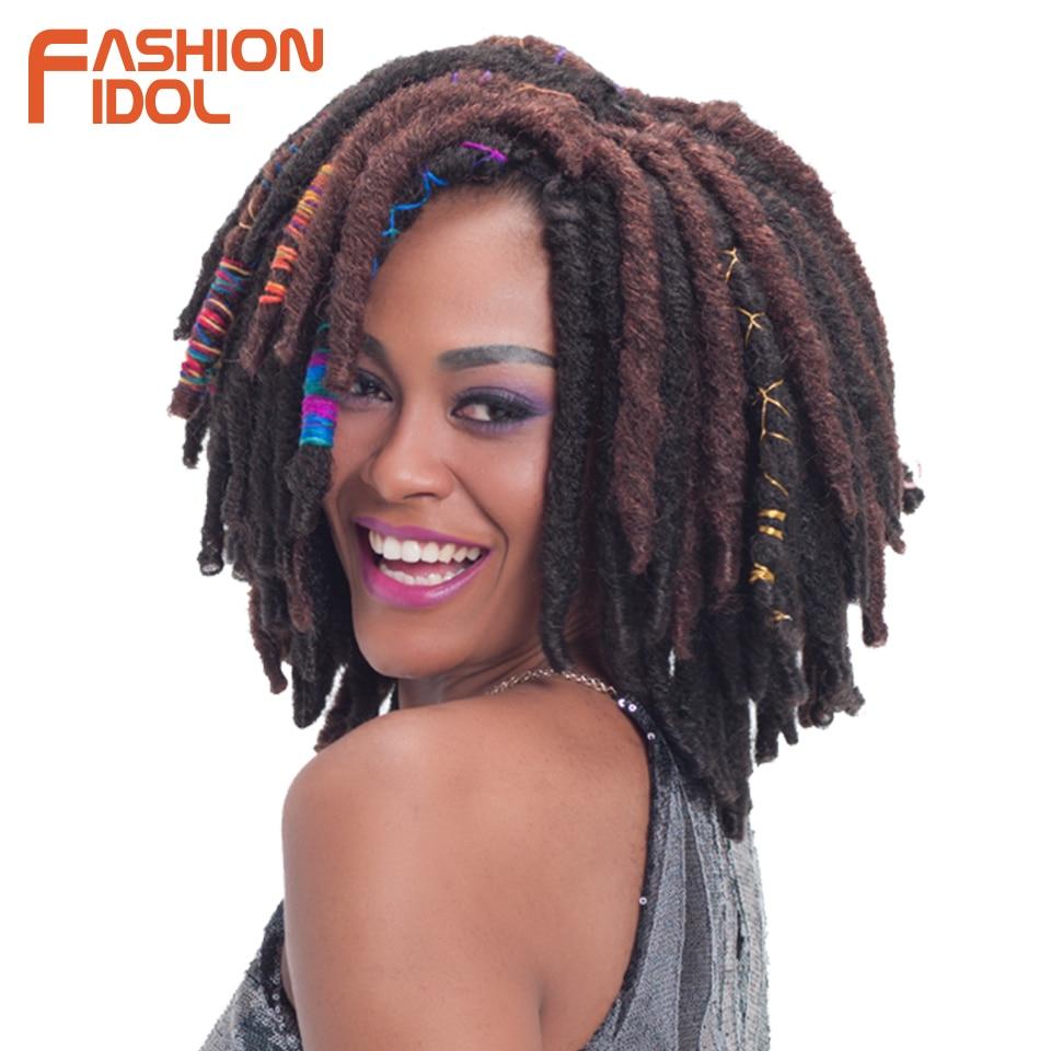 Fashion Idol 12 Inch 12 Strands Faux Locs Crochet Braids Hair