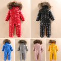 2~5 Years Winter Snowsuit Baby Down Romper Outdoor Infant Overcoat Clothes Girls Overall for Boys Onesie Infantil Kids Jumpsuit