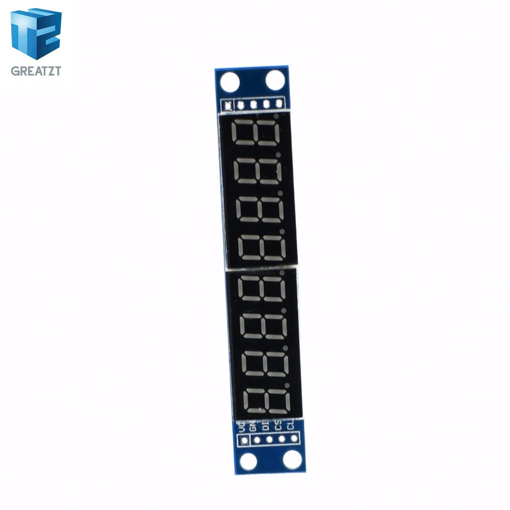 Max7219 Cwg 8 Digit Digital Tube Display Control Module Red Three Io Circuit Diagram As Described In The Datasheet Of For Arduino Integrated Circuits From Electronic Components Supplies On