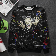 2017 New Math science men hoodies Graphic 3d men/women funny print Einstein sweatshirt casual tops