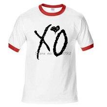 Weeknd hombres camiseta manga raglán ropa Casual XO Love Hip Pop Rapper O  cuello camiseta hombres 9b652915c2f