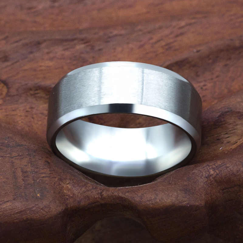 8mm Stainless Steel Ring Men High Quality Fashion Jewelry 4 colors