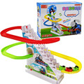 Subir Escadas Trolltech Pista de Slides Crianças Engraçado da música Elétrica Montado Brinquedo das Crianças Brinquedos Educativos Presente de Aniversário