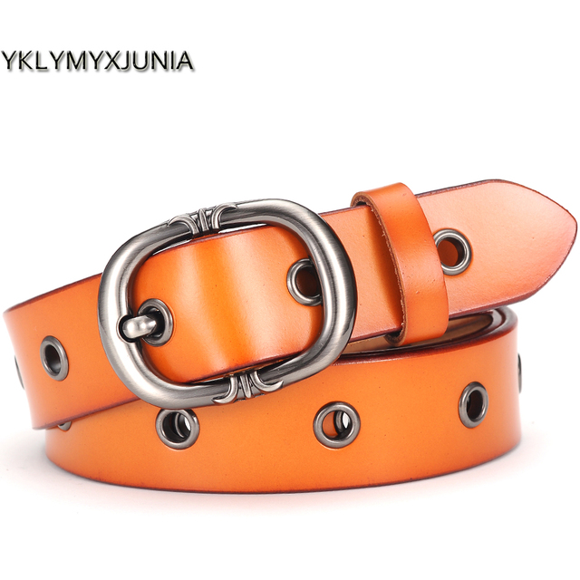 Leather Belts For Women Female Hollow Out Waistband Vintage