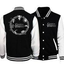 Stylish Baseball Jacket for Men – Fire & Blood, Winter is Coming