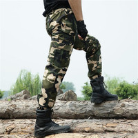 Military Multi Pockets Men S Cargo Pants Men Casual Tactical Pant Army Green Camouflage Camo Workwear
