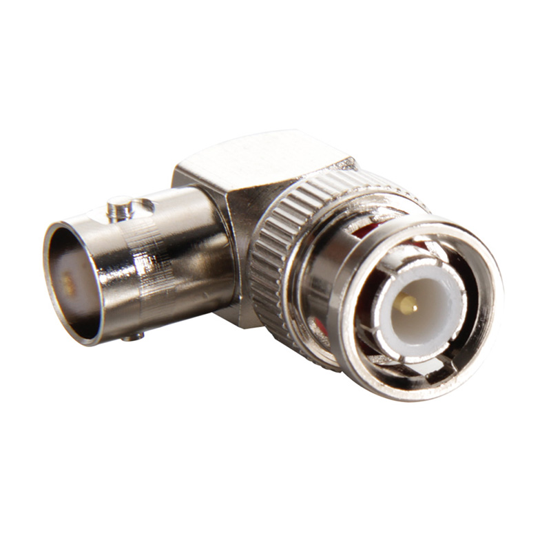 Pro Electrical Accessories BNC Male to BNC Female Jack in Series Right Angle RF Adapter Connector CCTV Terminals AA bnc female right angle panel mount plastic type white pc board pcb mount right angle bnc female with nut bulkhead connector 3pcs