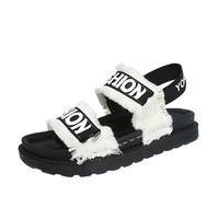 Fashion Summer Gladiator Women Flat Fashion Shoes Casual Occasions Comfortable Sandals Round Toe Casual Peep Toe
