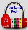 LHX MMS63 nueva Aleación De Zinc 4 letra del grupo de código candado Multicolor utiliza para la bicicleta de la puerta o cajas