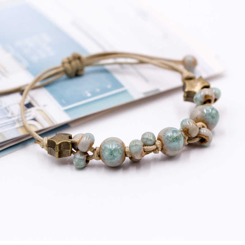 Retro style Ceramic DIY Handmade women's gift bracelets Bracelets&Bangles for woman ladies wholesale #1101