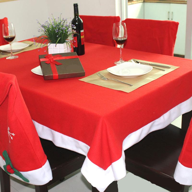cm rectngulo rojo de navidad cubierta de tabla mantel decoracin textil del pao