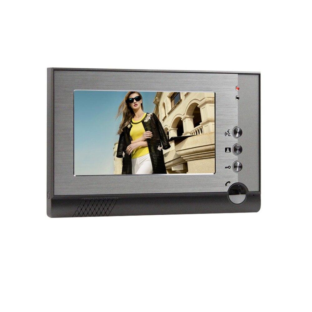 Yobang безопасности Бесплатная доставка 7 Цвет видео дверной звонок телефон с видео внутренней камеры и может контролировать 3 дома для много...