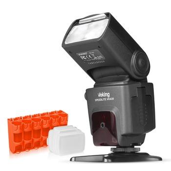 Voking VK430 I-TTL wyświetlacz LCD Blitz lampy błyskowej Speedlite do aparatu Nikon D5500 D3300 D7200 D3400 D5300 D500 D7500 D750 D5600 + prezent tanie i dobre opinie VK430N 350g Flash light 18*7*5cm 5500K AA Battery