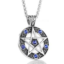 Buy pentacle wiccan stainless steel and get free shipping on